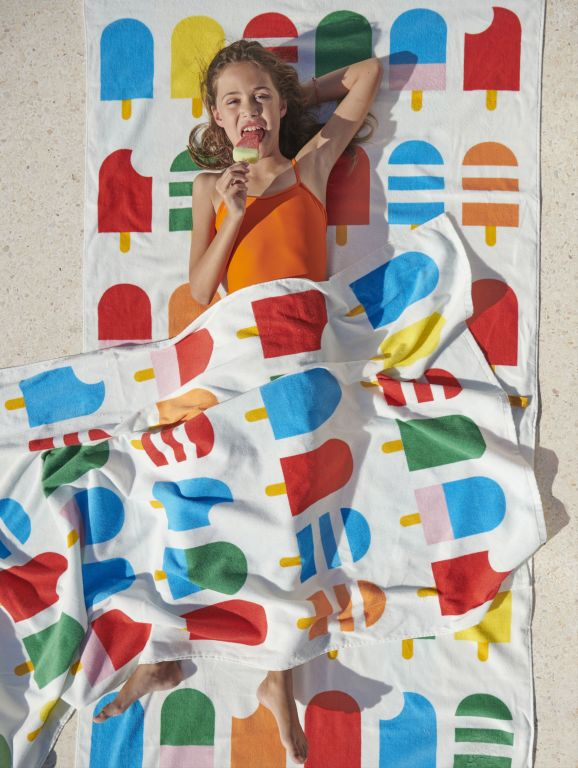 letnia kolekcja ręcznik w lody