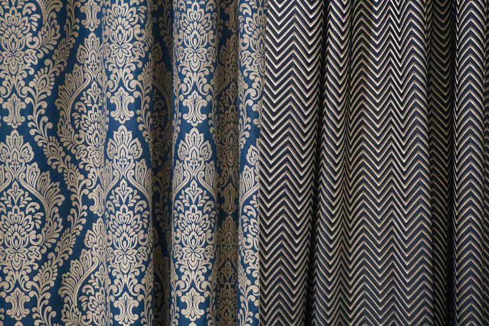 tkaniny zasłonowe wzorzyste