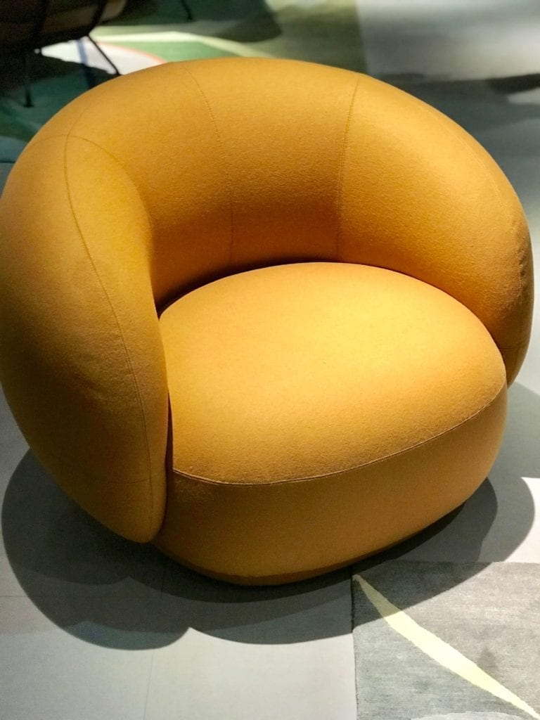 Tacchini żółty fotel