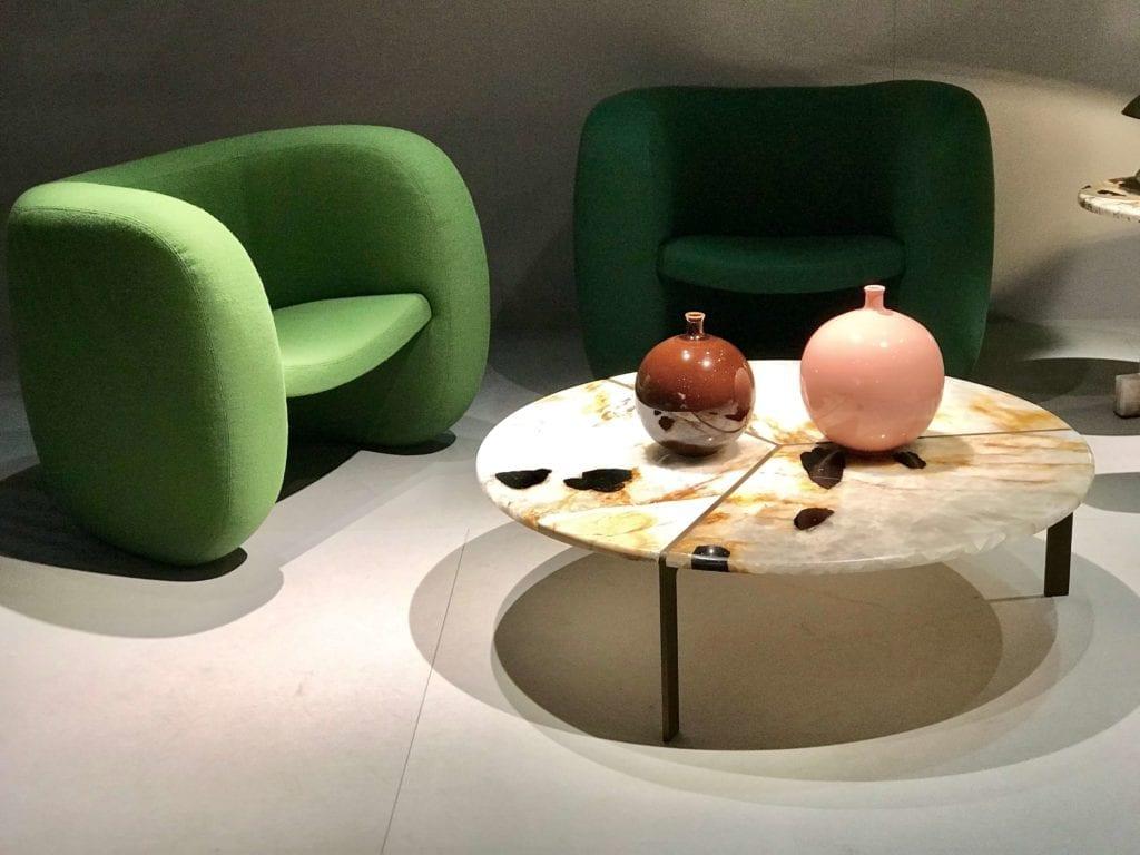 Tachcini komplet zielonych foteli