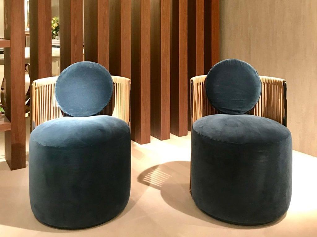 Fendi fotele obite welurem