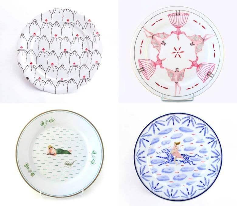 Ręcznie malowane talerze- JAD