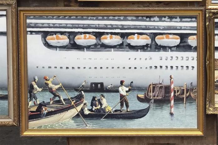 Banksy obraz sztuka wenecja włochy