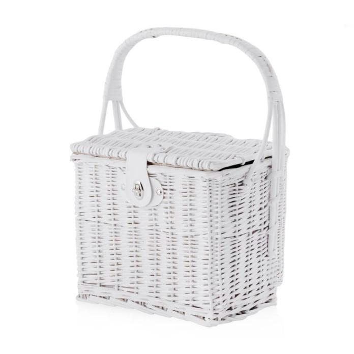 Koszyk piknik biały