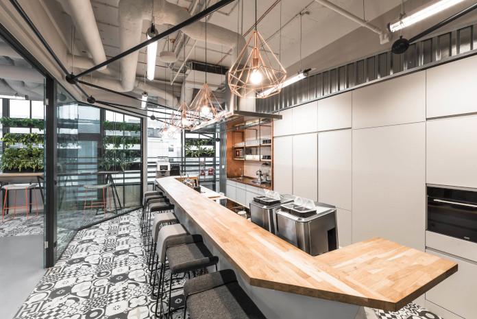 Coworking Brian Embassy mode:line najlepsze biuro kuchnia projekt