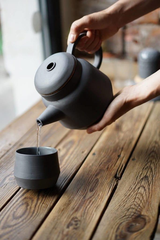 Zestaw do parzenia herbaty dzbanek porcelanowy filiżanka japońska