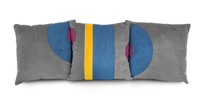 Różne poduszki dekoracyjne inspiracje bauhaus szare