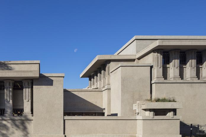 Unity Temple modernizm beton w architekturze kolumny