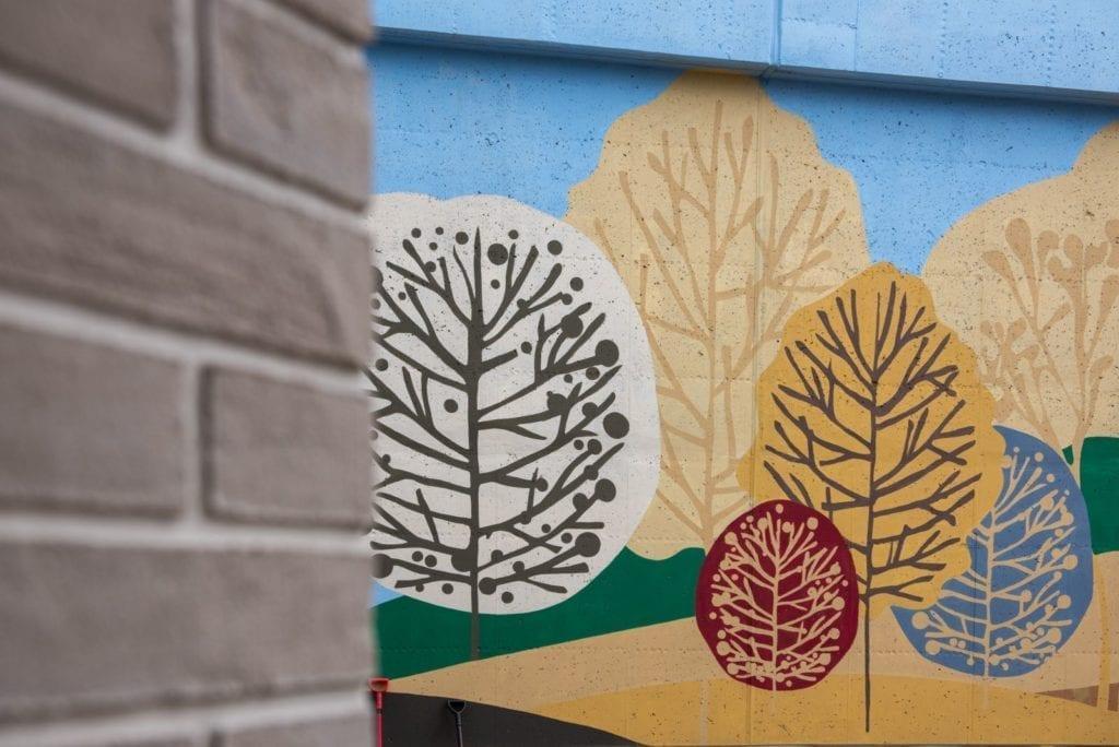 mural na osiedlu mieszkaniowym