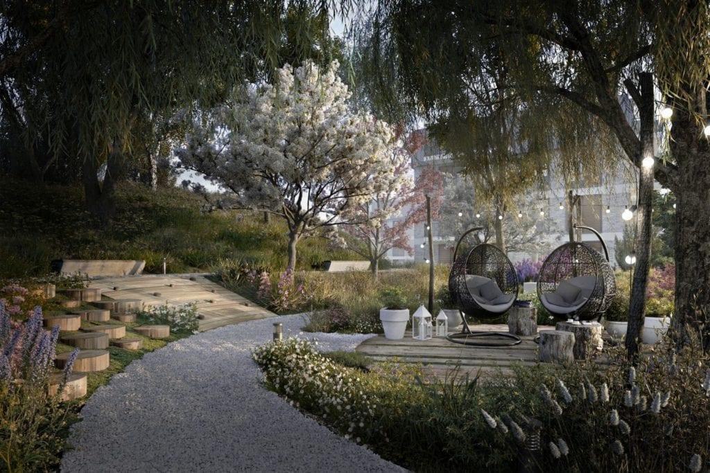 hygge ogród osiedle vialo