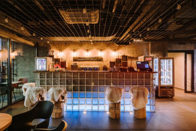 Nowy design bar aranżacje inspiracje futro we wnętrzu krzesła