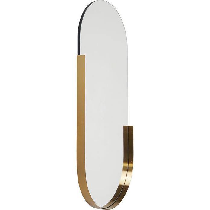 Duże wiszące lustro złota ramka inspiracje
