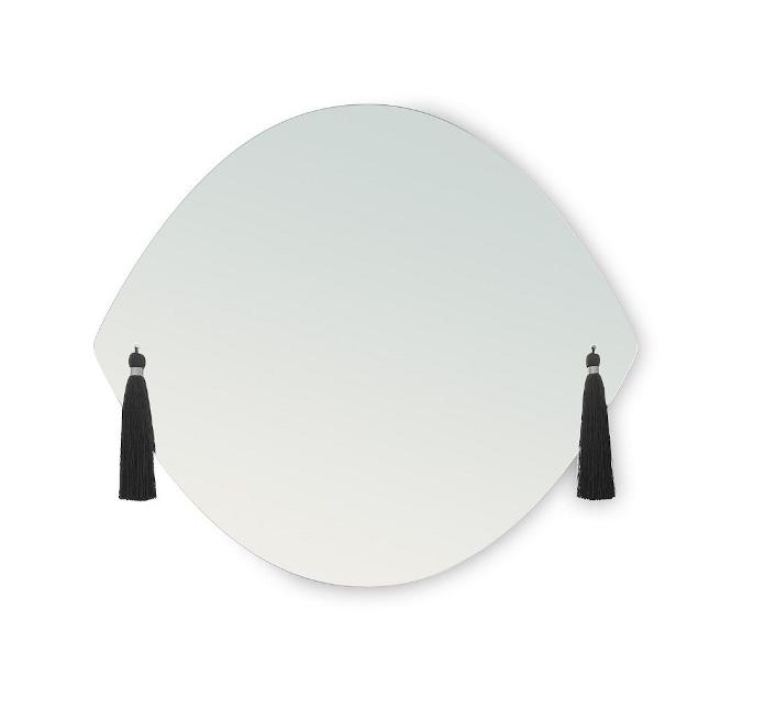 Lustro designerskie lustro z ozdobami 9design