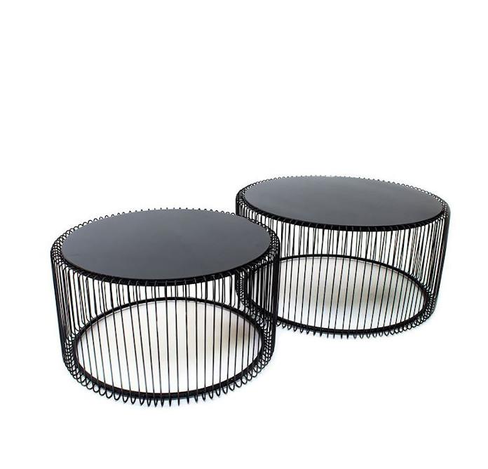 Zestaw stolików drucianych metalowe metamorfozy wnętrz