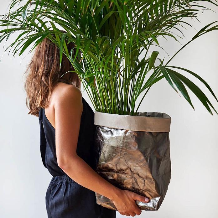 Worek dekoracyjny dla roślin doniczkowych palma inspiracje