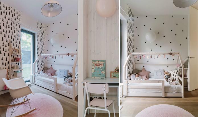 Sypialnia dziecięca róż inspiracje