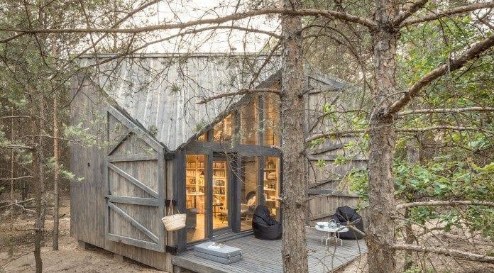 Bookworm Cabin Adelin Warszawa domek wynjęcie drewno las