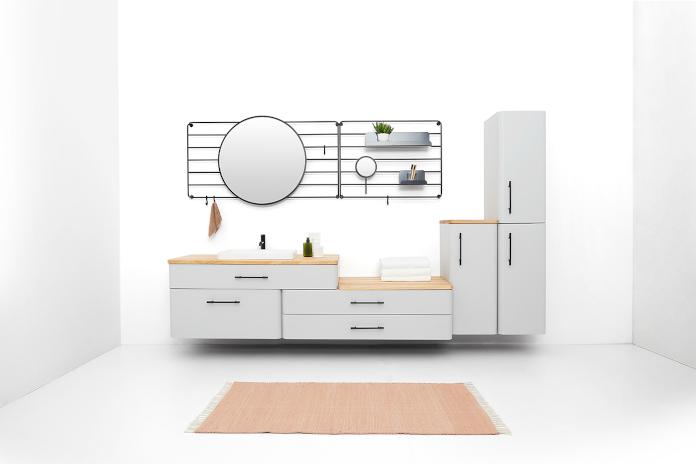 Devo Dawid Grynasz kolekcja MOOD białe meble łaziękowe lustro projektanci polscy