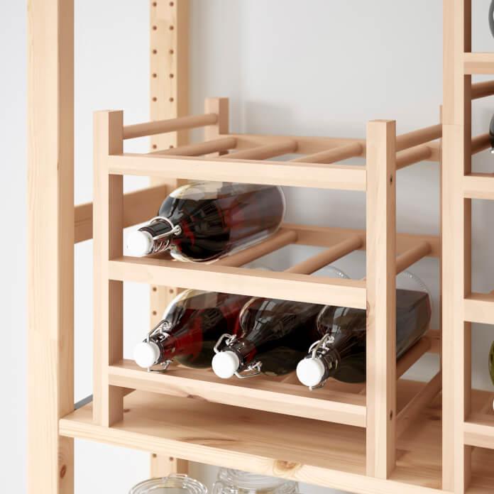 Regał dla wina ikea drewno