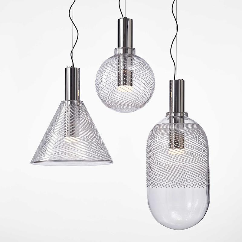 Phenomena Bomma lampy szklane z pięknymi wzorami