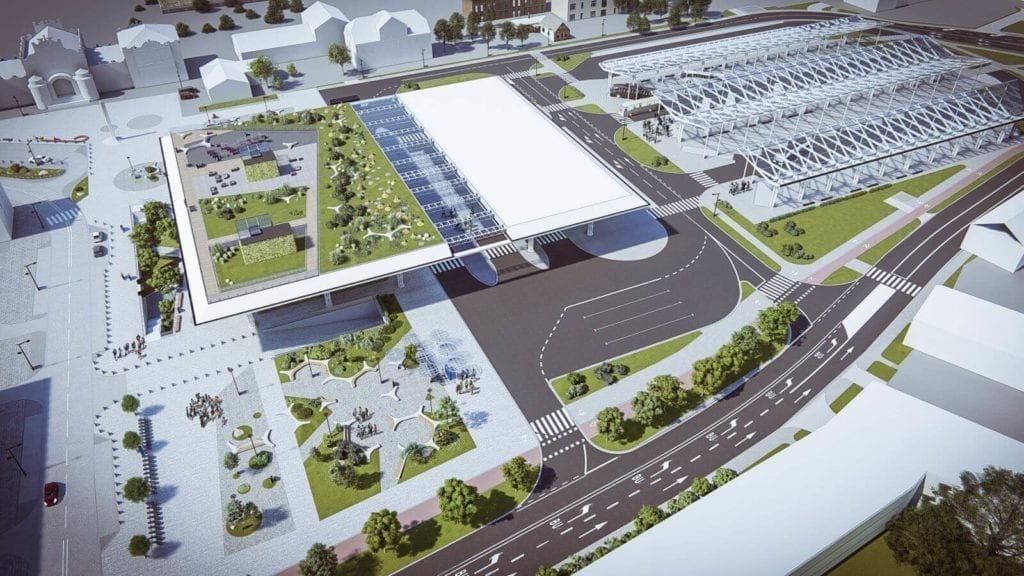 Lublin dworzec dworzec metropolitalny w Lublinie projekt