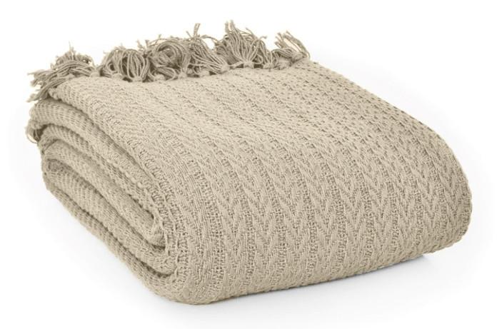 Koc z bawełny inspiracje kupić beżowy