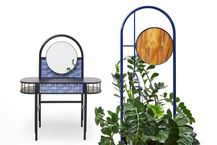 Sikorski Supreme Furniture Zofia Strumiło-Sukiennik kolekcja SPLOT komoda niebieska inspiracje rośliny design polski