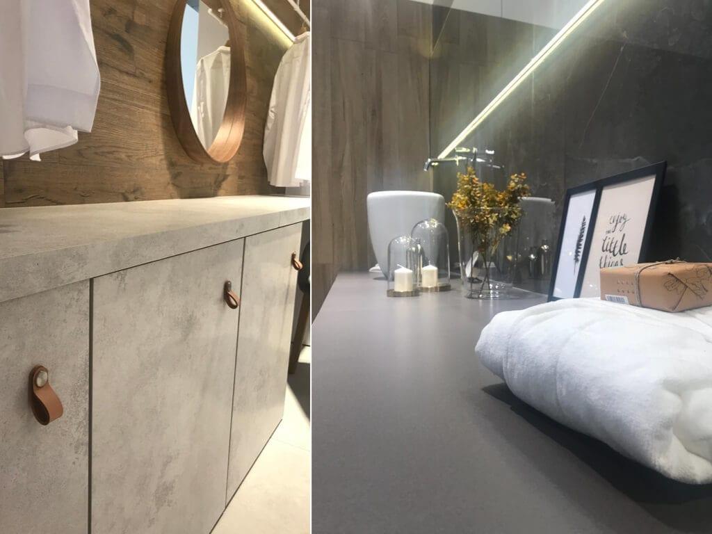 Płytki wielkoformatowe_MONOLITH_PoliszDesign inspiracje uchwyty skórzane łazienka