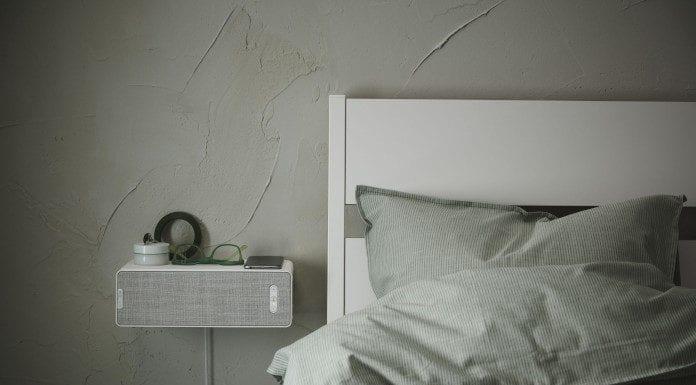 IKEA SYMFONISK głośnik półka pościel łóżko sonos