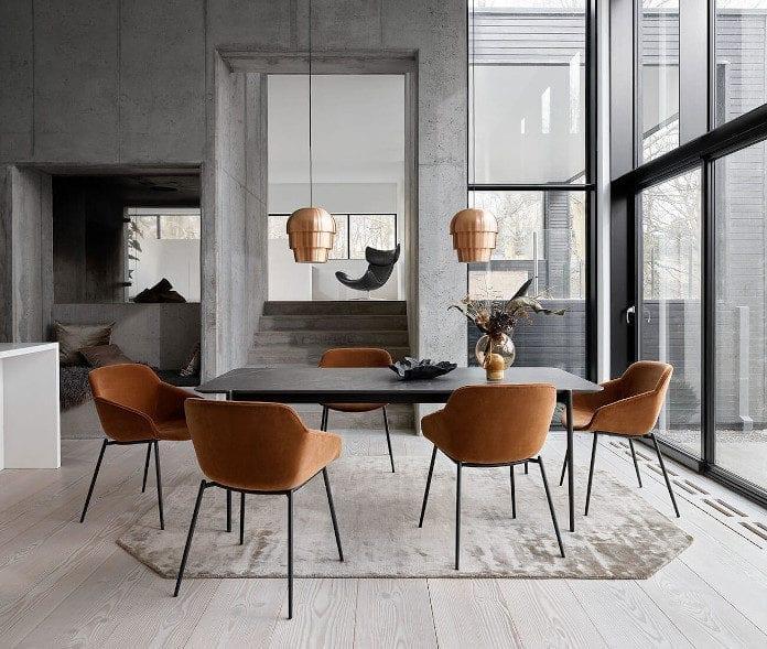 katalog boconcept 2020 krzesło stół lampa dywan inspiracje jadalnia