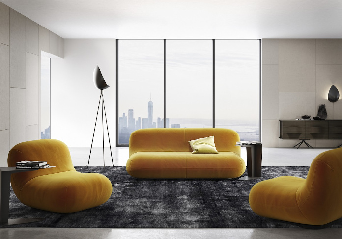Kaarim Rashid chelsea kanapa fotel lampa dywan salon