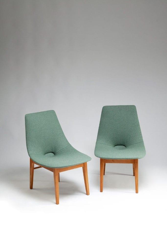 Lachert krzesła prl miętowe sztuka kobiet