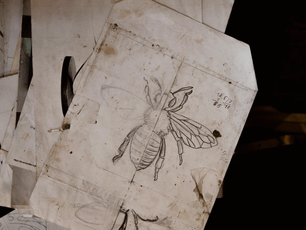 projekt uchwytu mosiężnego w kształcie pszczoły