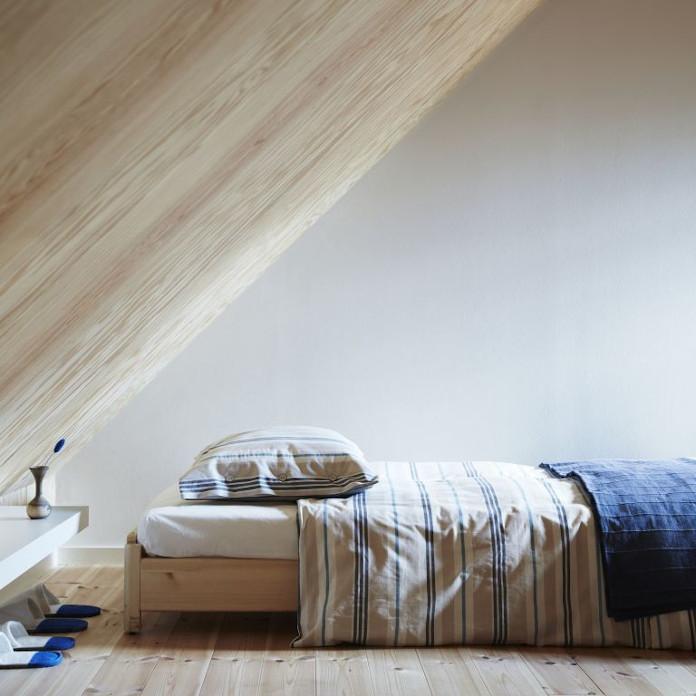 pościel w paski kolekcje ikea poduszka sypialnia koc