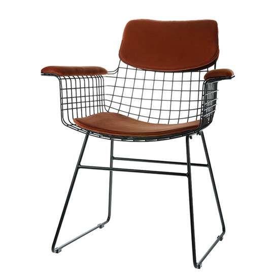 Metalowe krzesło 9design nakładki jedwabny aksamit