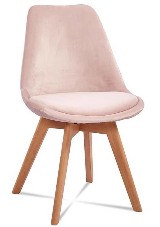 jedwabny aksamit krzesło różkowe drewniane nóżki