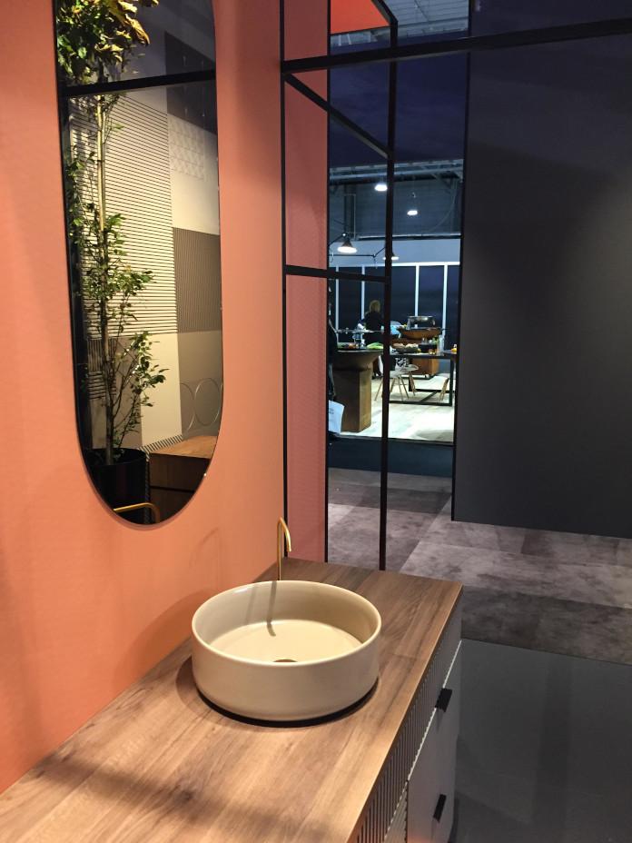 lustro umywalka blat łazienka