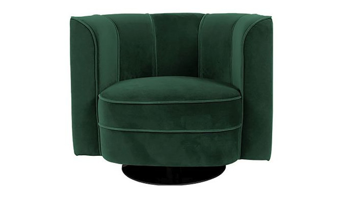 aksamitowy fotel zieleń we wnętrzu inspiracje