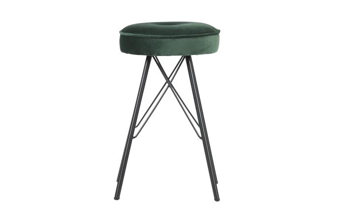 stołek barowy inspiracje zielony aksamit