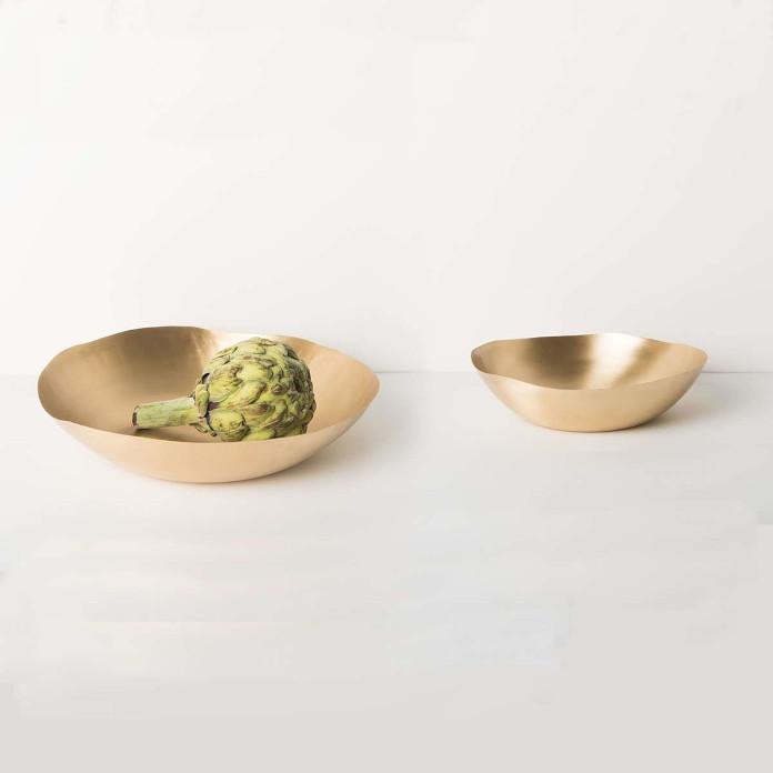 złote talerze miski jak ozdobić stół