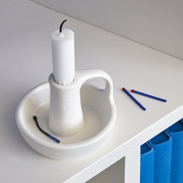 świecznik ikea biały stojący klimatyczne mieszkanie