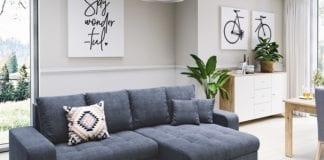 aranżacja szybka metamorfoza salonu inspiracje kanapa stolik rośliny