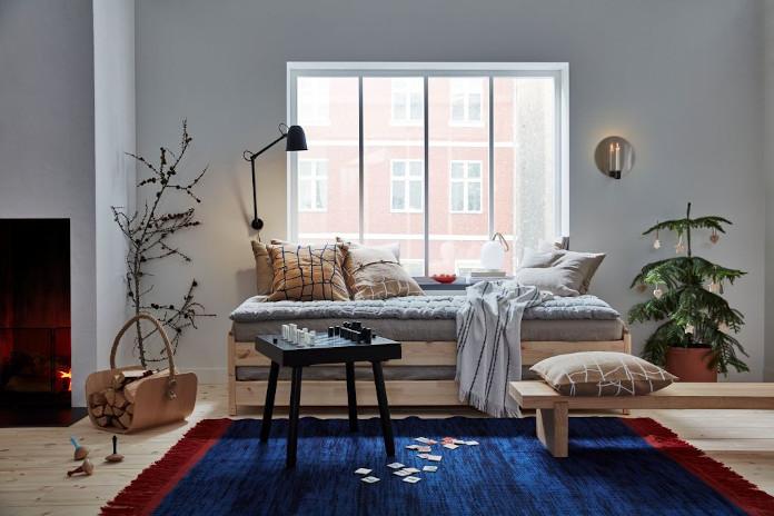 poduszki dekoracyjne inspiracje łążko koc choinka