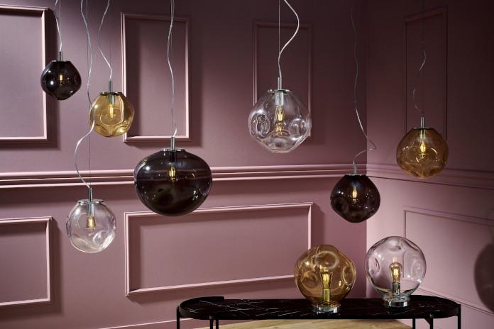 róż lampy wiszące okrągłe trendy wnętrzarskie inspiracje