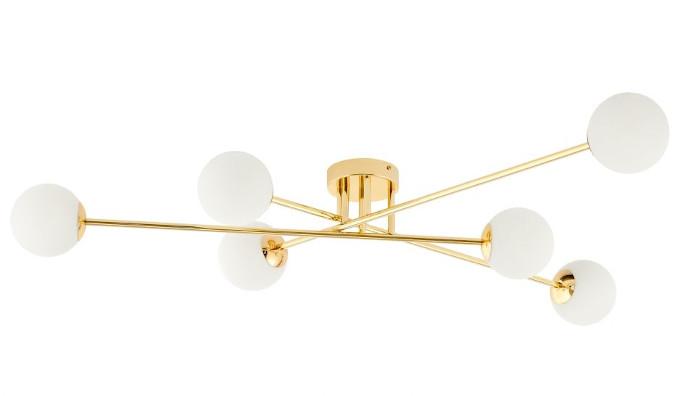 lampa przysufitowa kaspa złota kulki inspiracje 9design