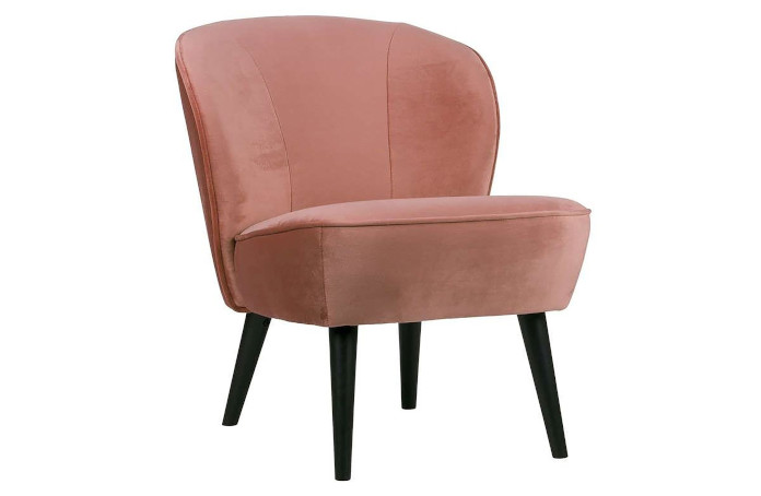 fotel-różowy-woood-na-różkach-velvet-inspiracje-coral-pink