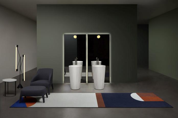 Antonio lupi umywalki PLISSE wolnostojące bateriał marmur isnpiracje lustro łazienka