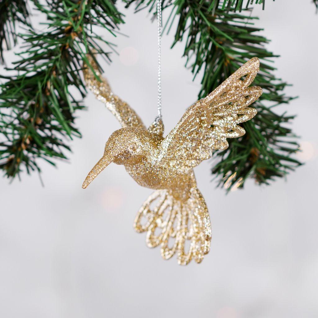 świąteczny-nastrój-zawieszka-na-choinkę-w-kształcie-ptaszka-złoto-błyszcząca
