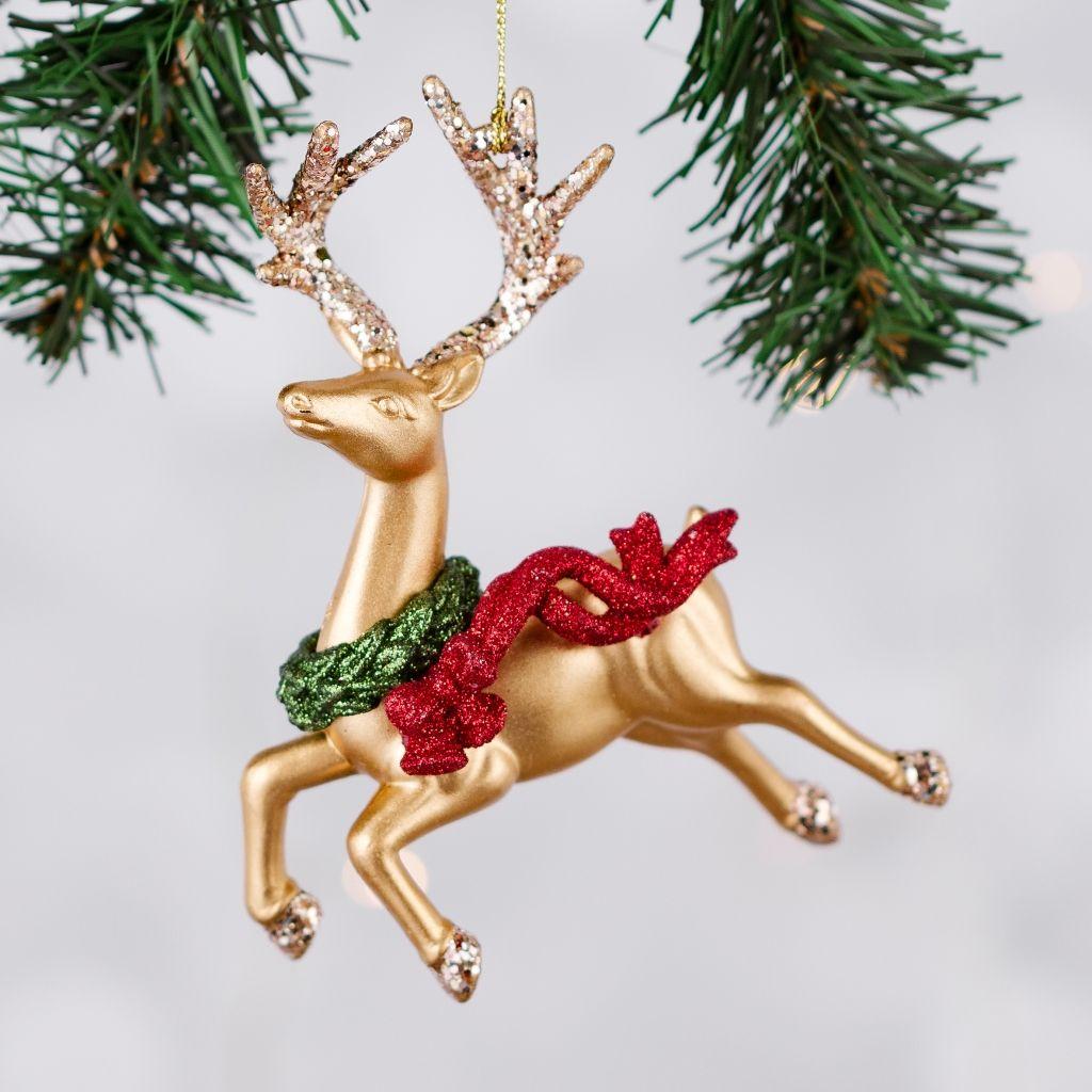 zawieszka-na-choinkę-złoty-jeleń-inspiracje-świąteczny-nastrój