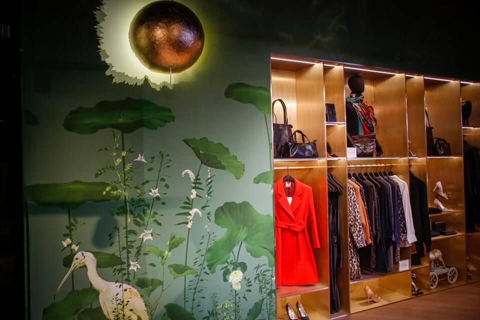tapeta-inspiracje-złoto-zieleń-butik